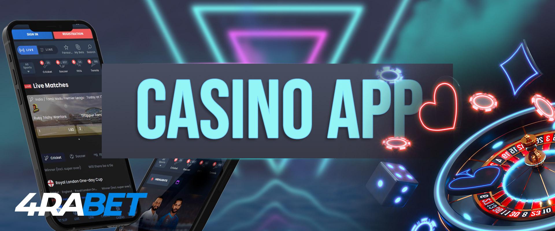 4rabett casino app and mobile interface.