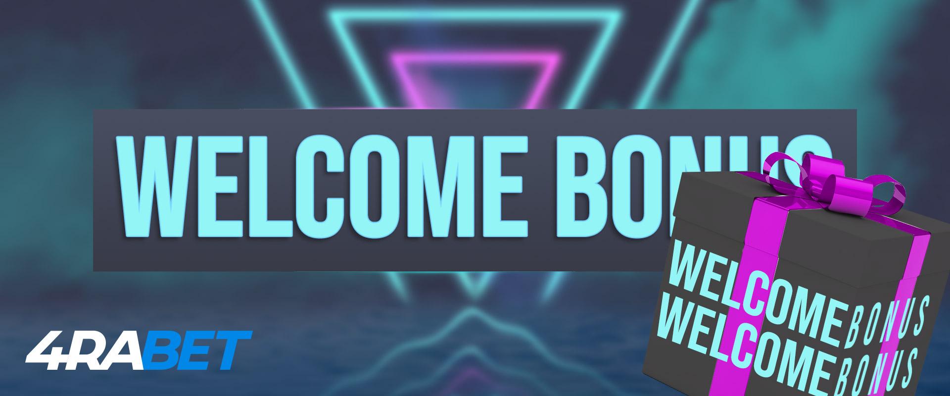 Welcome bonus in 4rabet.